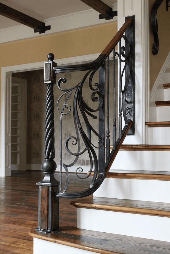 Trabajos en forja barandillas escaleras viviendas - Escaleras de forja interiores ...
