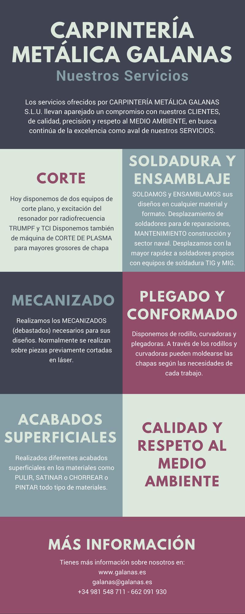 CARPINTERIA METÁLICA GALANAS - SERVICIOS QUE OFRECEMOS
