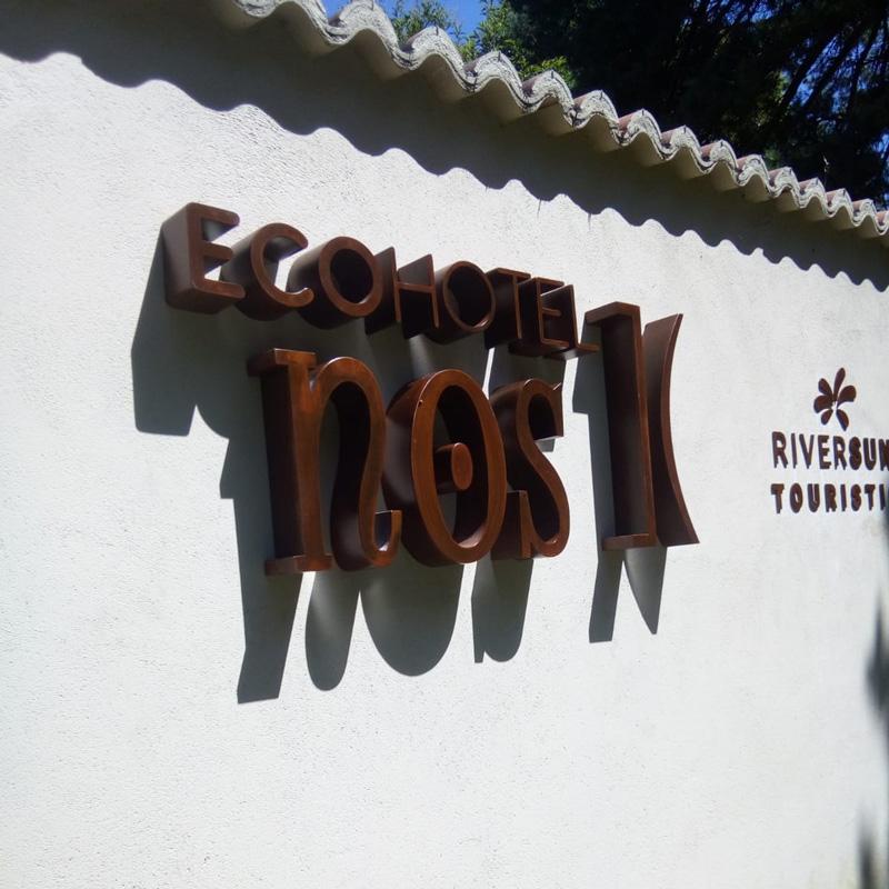 ECOHOTEL NOS - LETRAS EN ACERO CORTEN